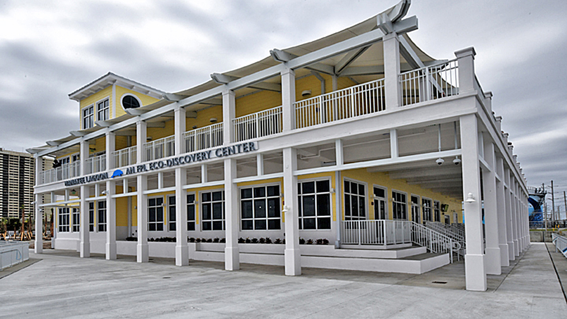The visitor center at Manatee Lagoon.