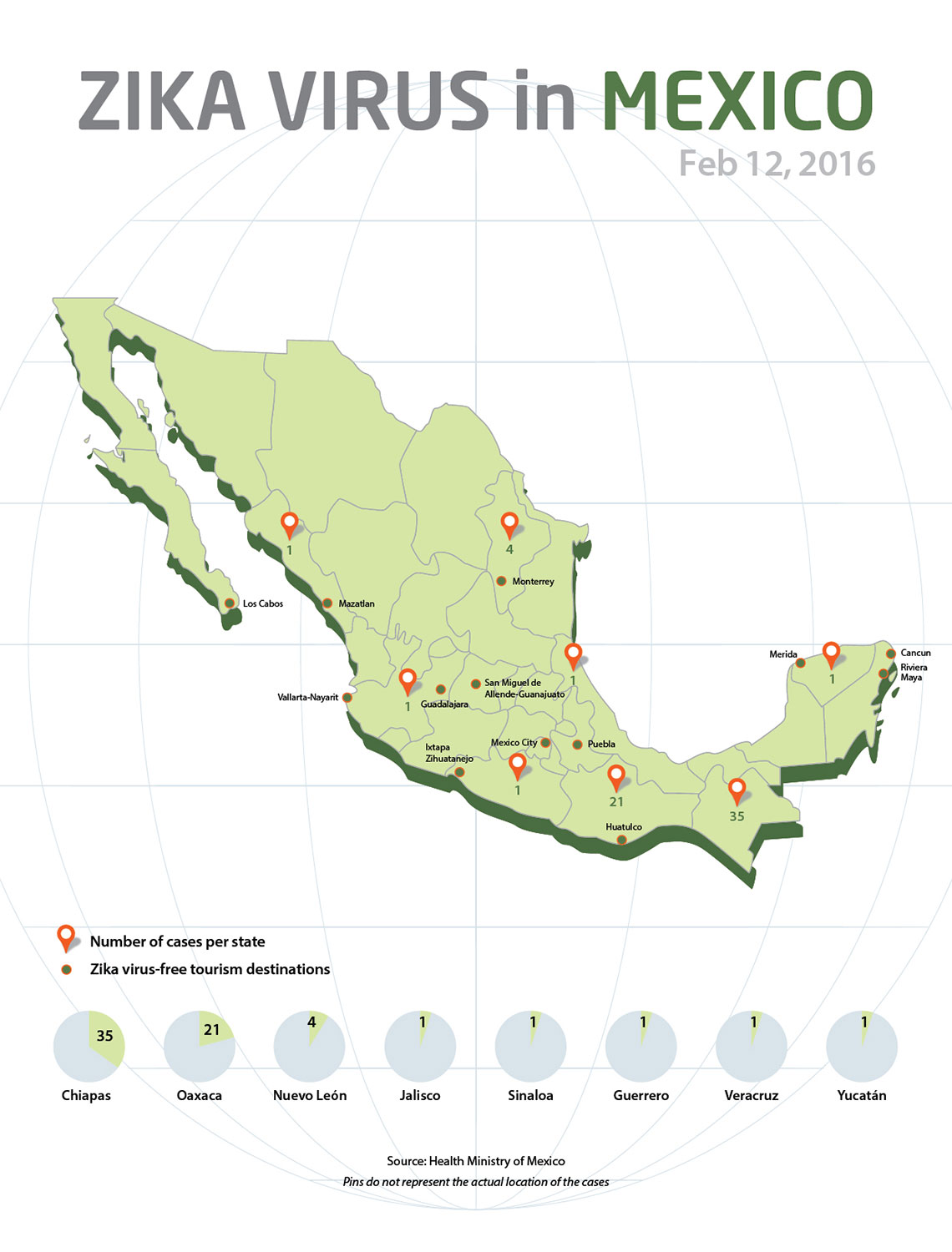 Mexico draws map indicating location of Zika cases Travel Weekly
