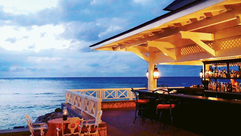 The Cedar Bar at Half Moon resort in Jamaica.