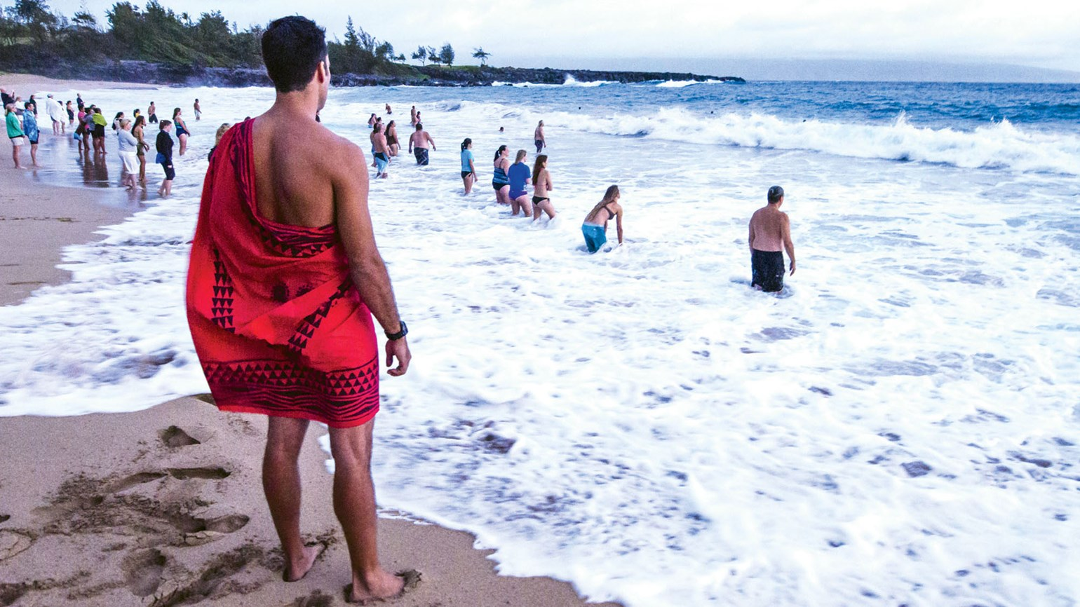 The dawn hiuwai ceremony opens the annual Celebration of the Arts Festival at the Ritz-Carlton Kapalua.