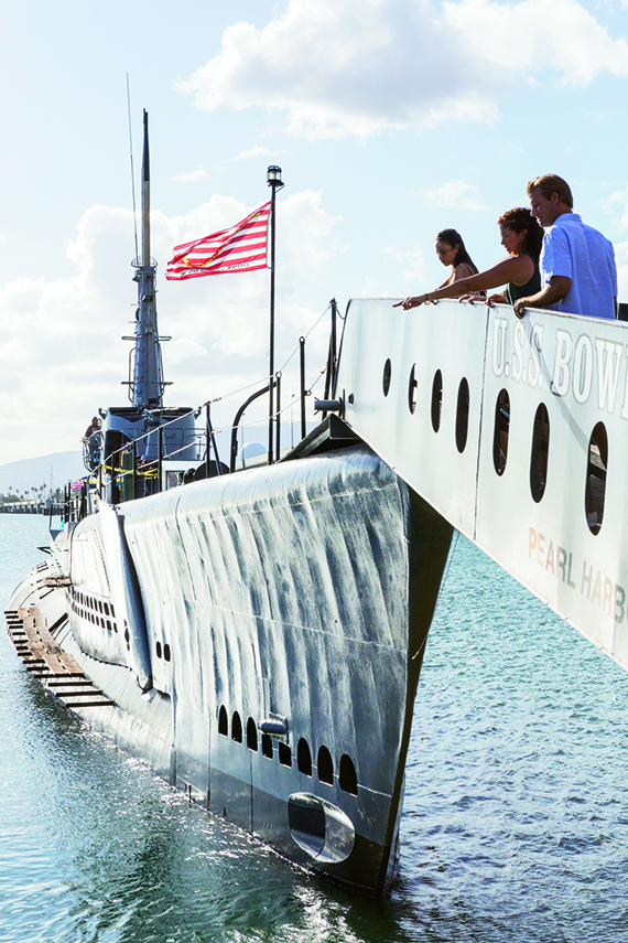The Bowfin Submarine Museum & Park gives visitors a taste of what it's like to be inside a sub. Photo Credit: Tor Johnson/Hawaii Tourism Authority