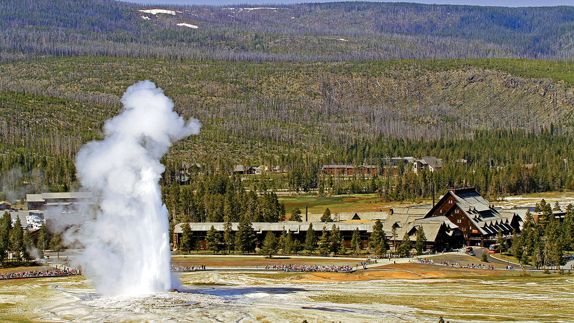 Xanterra owns the Old Faithful Inn at Yellowstone National Park.