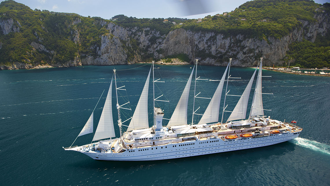 The Wind Surf yacht, part of the Windstar Cruises fleet. Xanterra bought Windstar in 2011.