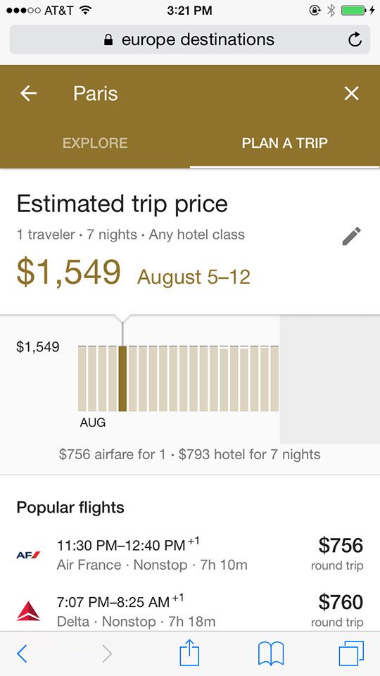 google unveils mobile trip planner travel weekly