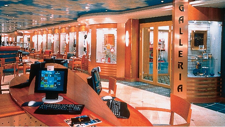 In 1999, the Norwegian Sky was the first cruise ship to have an Internet cafe. With the rise of WiFi-based devices, the Sky has reduced its high of 14 public terminals to four.