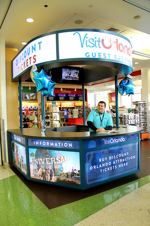 Visit Orlando opens first of seven kiosks on Fla  Turnpike