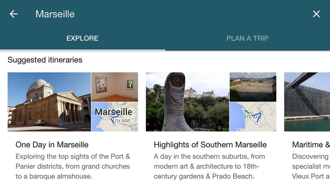 travel trip planner google destinations