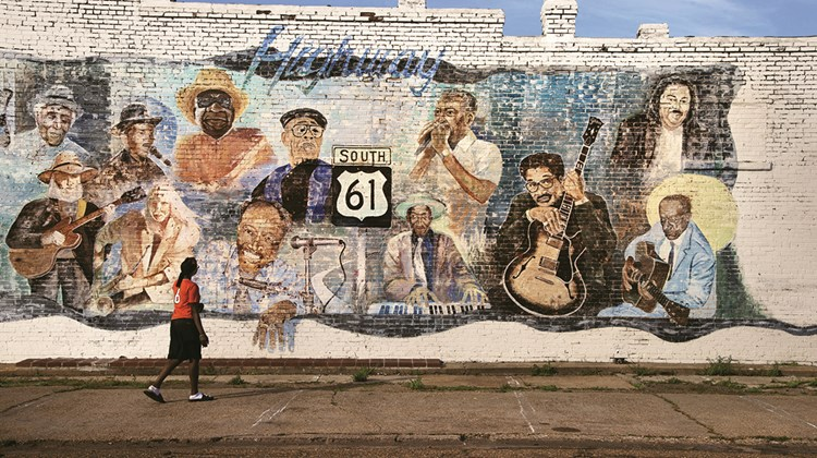 A mural in Leland, Miss., salutes blues legends.<br /><br /><strong>Photo Credit: Steve McCurry/©Steve McCurry</strong>