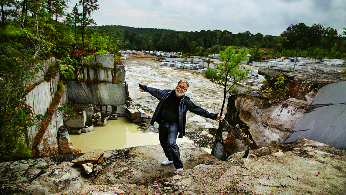 Massoud Besharat, who was born in Iran, owns a granite quarry in Elberton, Ga. Photo Credit: Steve McCurry/©Steve McCurry