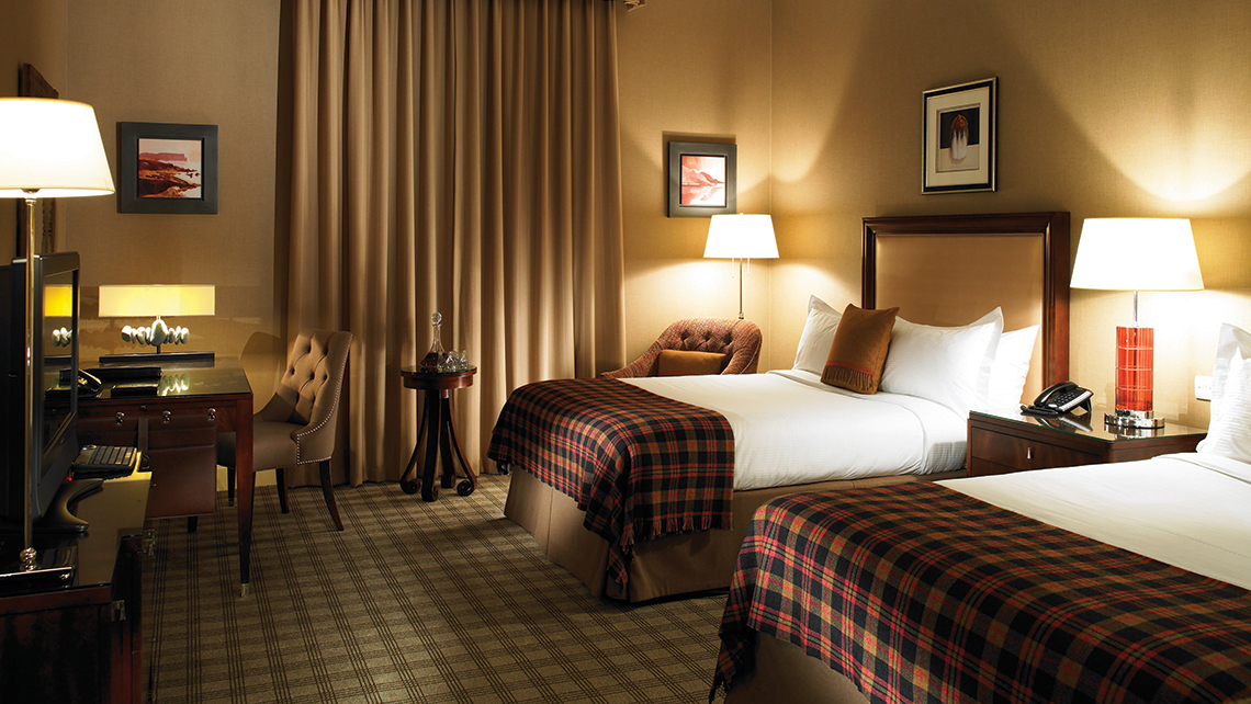 The suites at the Fairmont St. Andrews, including this deluxe twin, are scheduled for renovation.