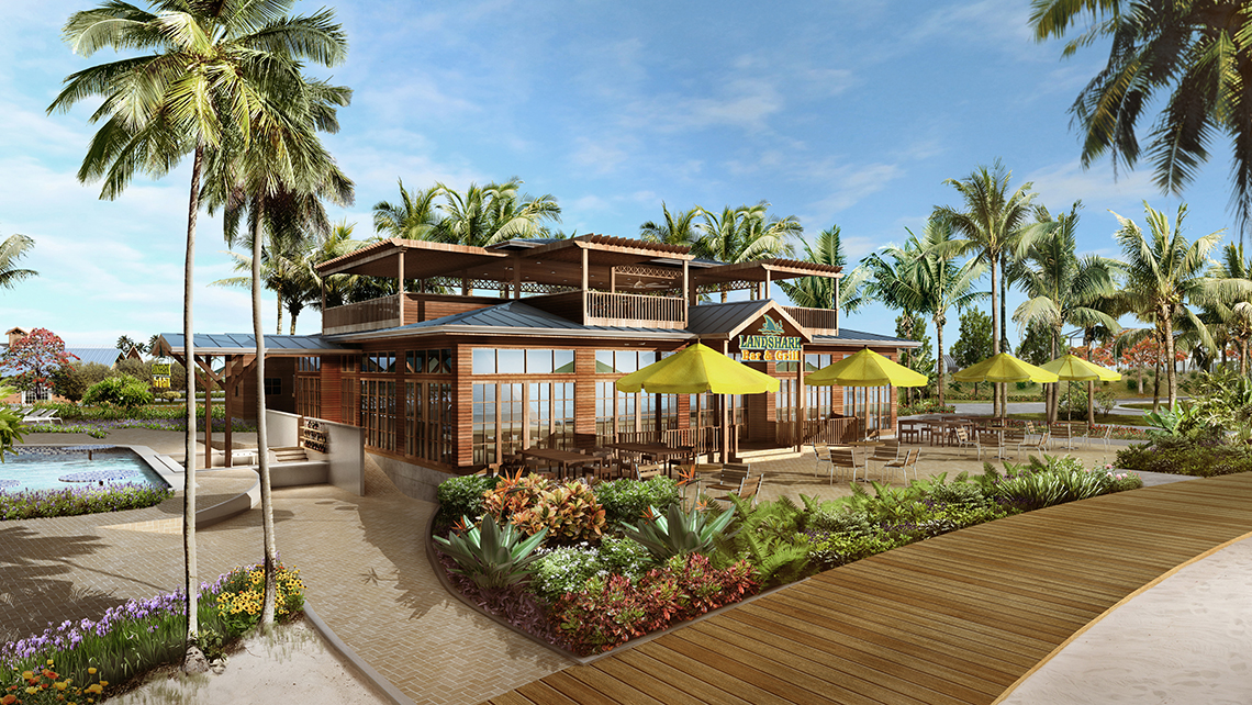 A Landshark Bar & Grill will open at Harvest Caye.