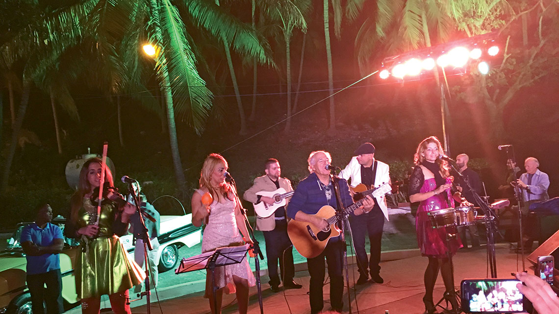Jimmy Buffett performing in Cuba last week.