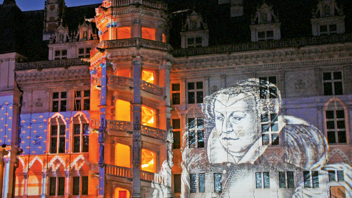 The Chateau de Blois light show takes place at sunset from April to September. Photo Credit: D Lepissier