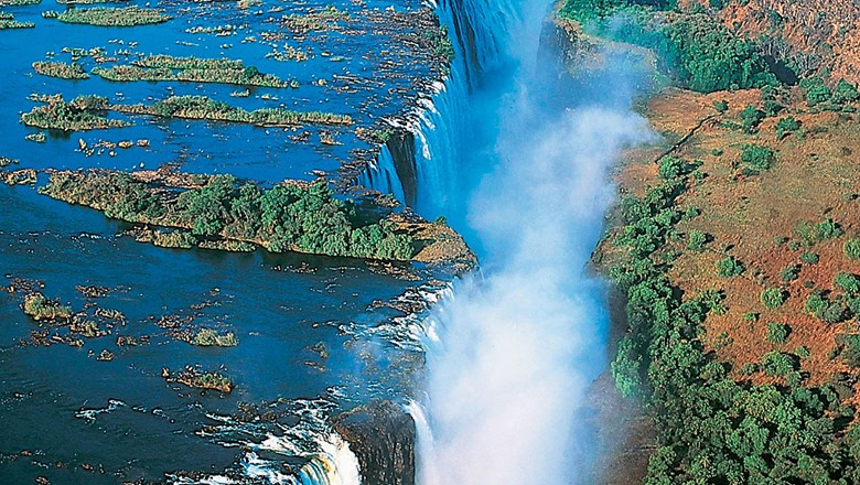 Livingstone Island on Victoria Falls.