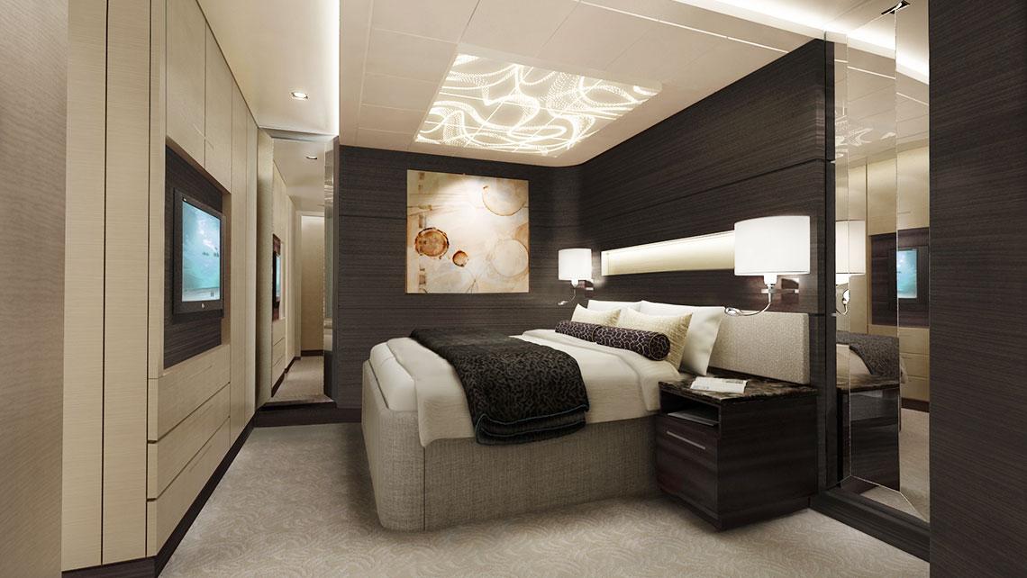A Concierge suite bedroom.