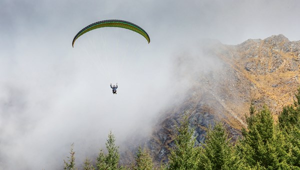 "In order to be able to advertise its cannabis-friendly tours on social media, House of Travel uses images such as this one with a caption that reads, ""Flying high in the Rockies."""