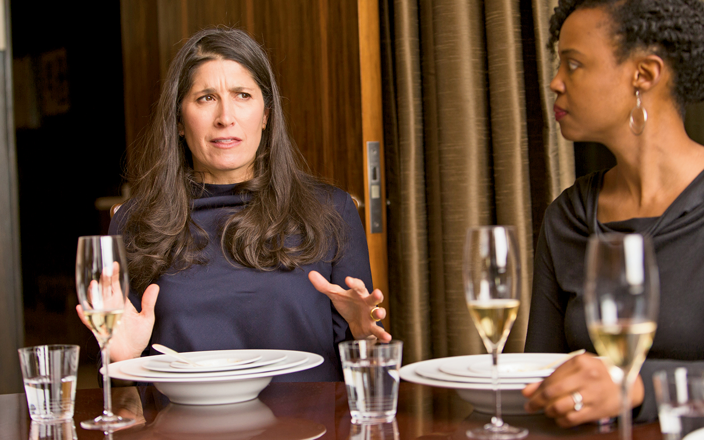 Pilar Guzman of Conde Nast Traveler, left, and Monica Drake of the New York Times.