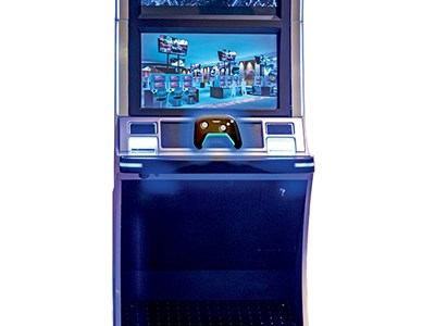 GameCo's video-game gambling machine is an arcade-meets-slots device that comes with its own controller.
