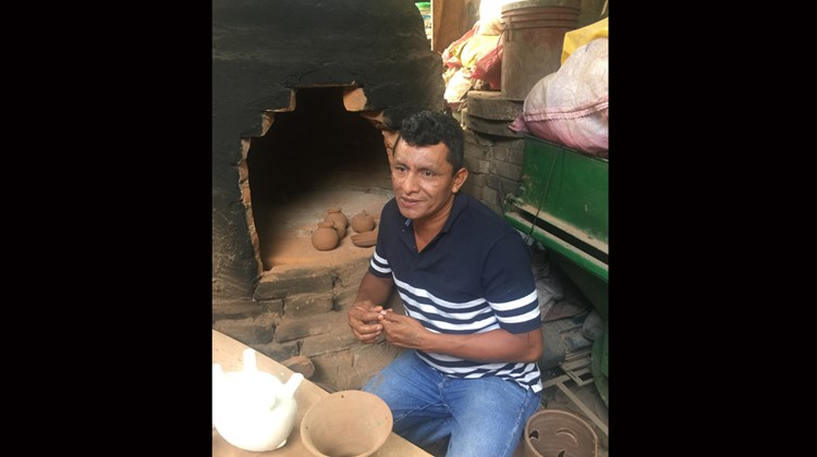 The ceramics of Pedro Guererro, also of San Juan de Oriente, are both decorative and available for purchase at Pacaya lodge. Like Ortiz, he gives lessons to guests.<br /><br /><strong>Photo Credit: Arnie Weissmann</strong>