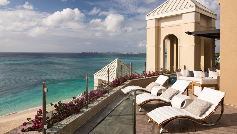 The view from the new penthouse suite at the Ritz-Carlton Grand Cayman.