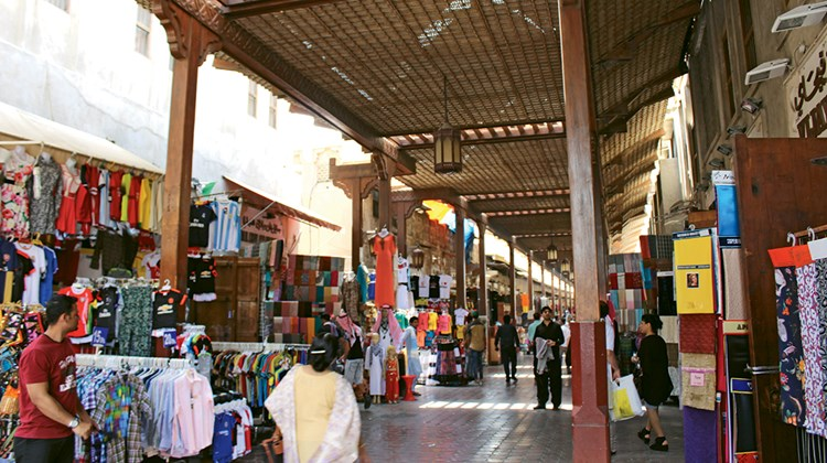 The Textile Souk in Old Dubai.