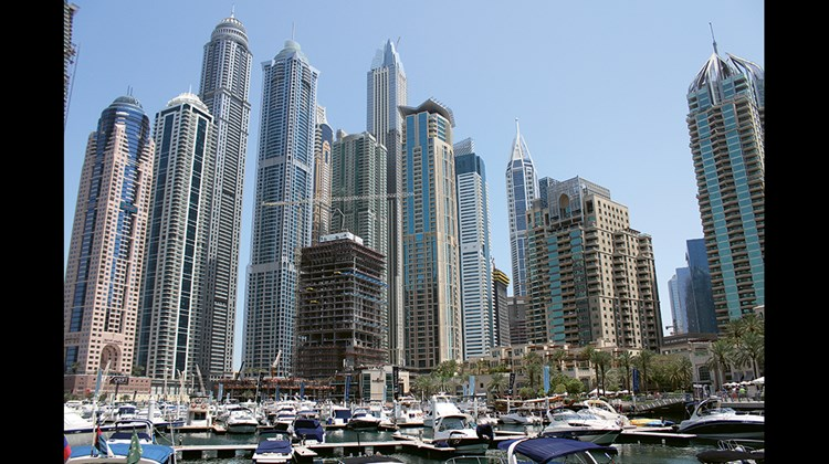 Construction of residential high-rises continues at an astonishing rate in the city's marina area.