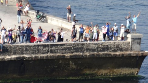 Fathom's ship cruises into Havana Harbor