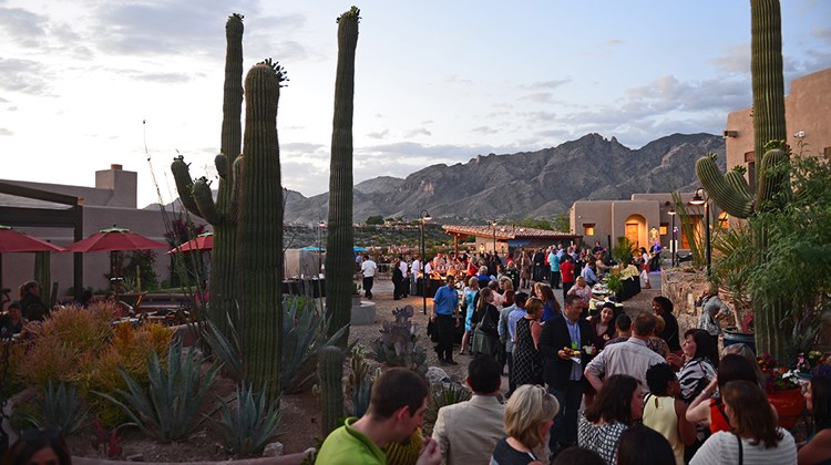 Top travel advisers and suppliers gathered this week at the Westin La Paloma Resort & Spa in Tucson, Ariz., for the annual GTM West event. Pictured here: Attendees enjoy a welcome reception sponsored by Visit Tucson at the historical Hacienda del Sol property.<br /><br /><strong>Photo Credit: J. Martin Harris Photography</strong>