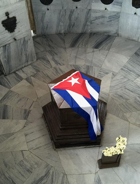 The tomb of Cuban founding father Jose Marti in Santiago's Santa Ifigenia Cemetery.
