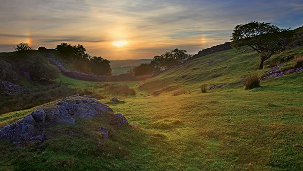 Ambitious visitors can hike the 84 miles of Hadrian's Wall.