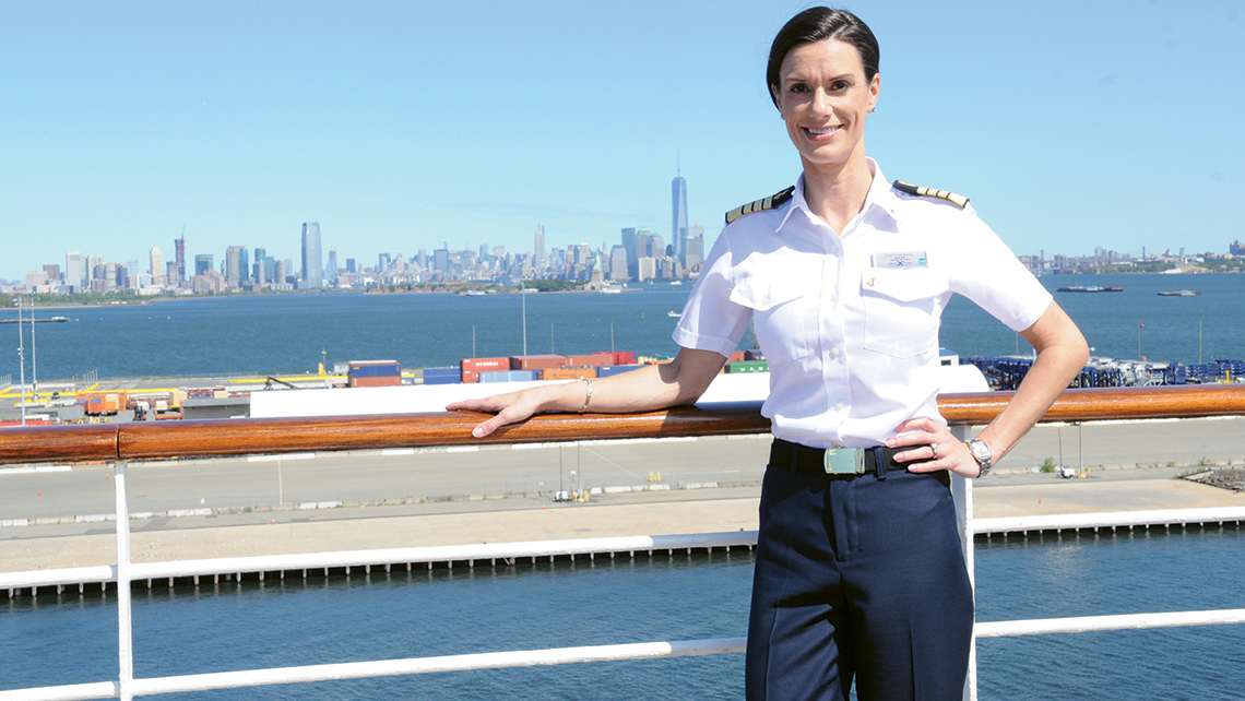 When Kate McCue was named captain of the Celebrity Summit last August, she became the line's first female captain and the first American woman to helm a major cruise ship.