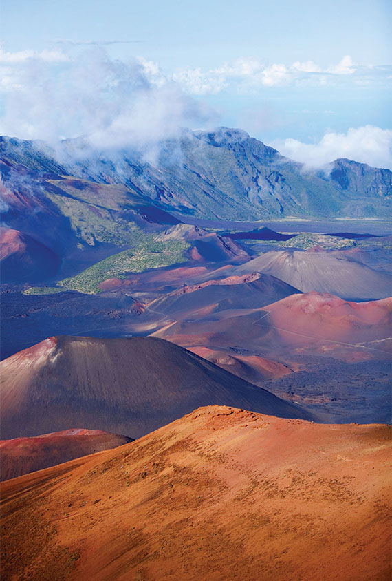 The summit of Haleakala, Maui's 10,000-foot shield volcano.
