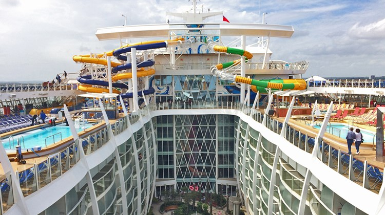The Harmony of the Seas currently is the biggest cruise ship in the world, at 223,963 gross tons and 5,479 passengers. The ship is sailing from the Mediterranean this summer. Managing editor Rebecca Tobin toured the ship on a two-day preview cruise out of England.