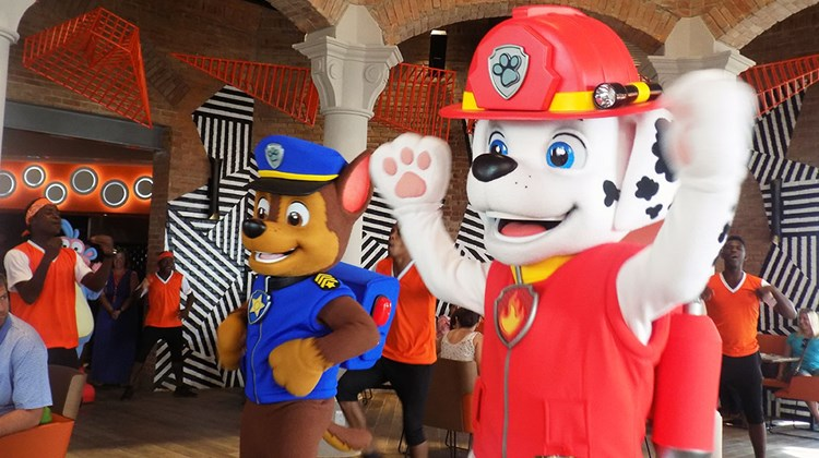 Paw Patrol characters Marshall (right) and Chase were on the case at the character breakfast.