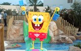 SpongeBob SquarePants, one of the water play structures in the splash park.