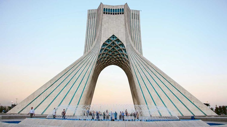 The 164-foot Azadi (Freedom) Tower, located in Tehran's Azadi Square.
