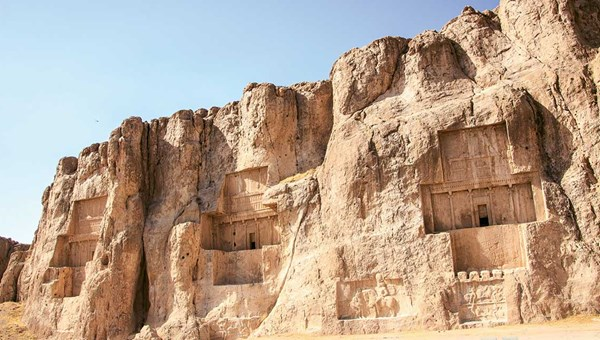 The Achaemenid tombs at Naqhsh-e Rostam, near the Unesco-listed Persepolis, a city destroyed in 330 B.C. during Alexander the Great's invasion of Persia. It disappeared beneath the desert sands until it was excavated in the 1930s.