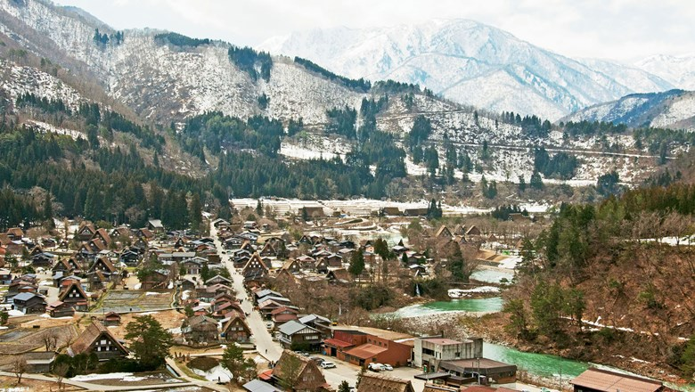 The village of Shirakawa-go, a Unesco World Heritage Site, is known for its doburoku, a type of sake moonshine.