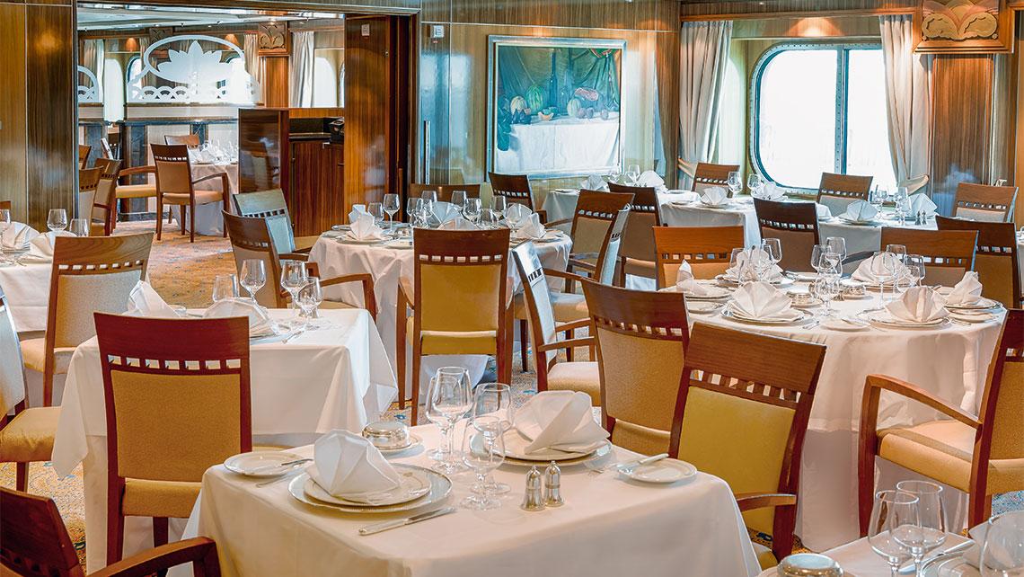 The refreshed Britannia Club restaurant.