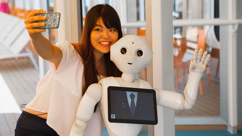 Pepper, an interactive robot, comes aboard Costa ship