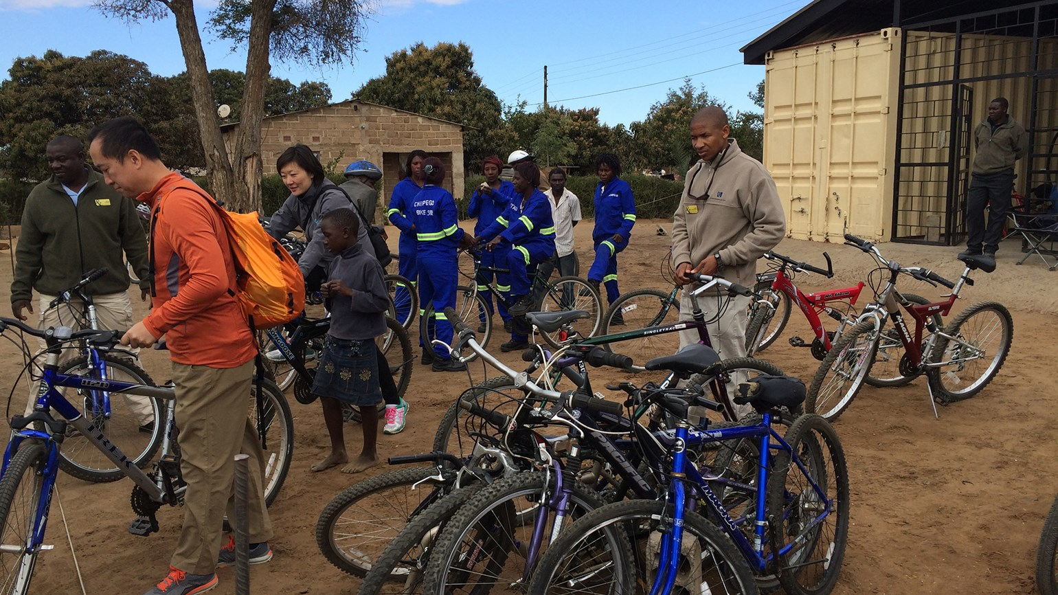 Promoting change with bicycles