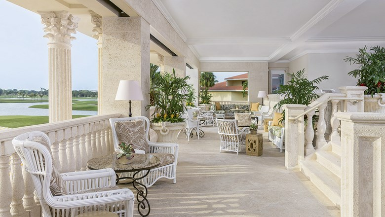 The Living Room Terrace at the Trump National Doral in Miami.