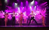 A main stage show narrates the past, present and future of showgirls.