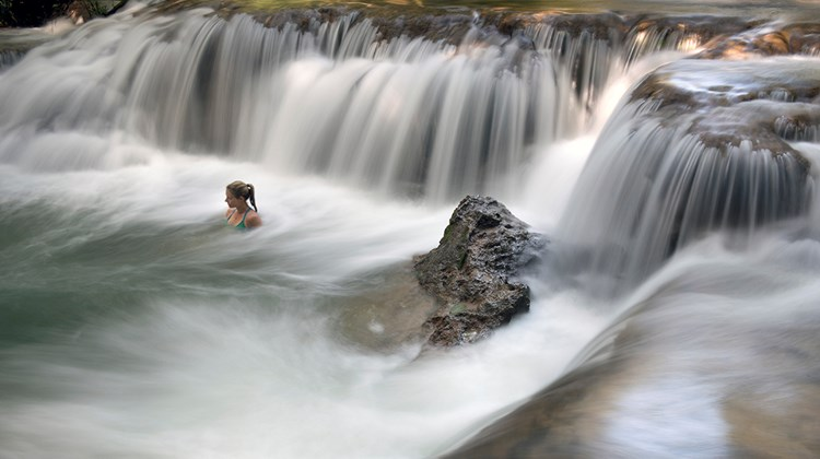 The Estancia Mimosa Private Reserve in Bonito has a series of waterfalls where explorers can find various species of animals before relaxing on the property&#39;s hammocks.<br /><br /><strong>Photo Credit: Mark Edward Harris</strong>