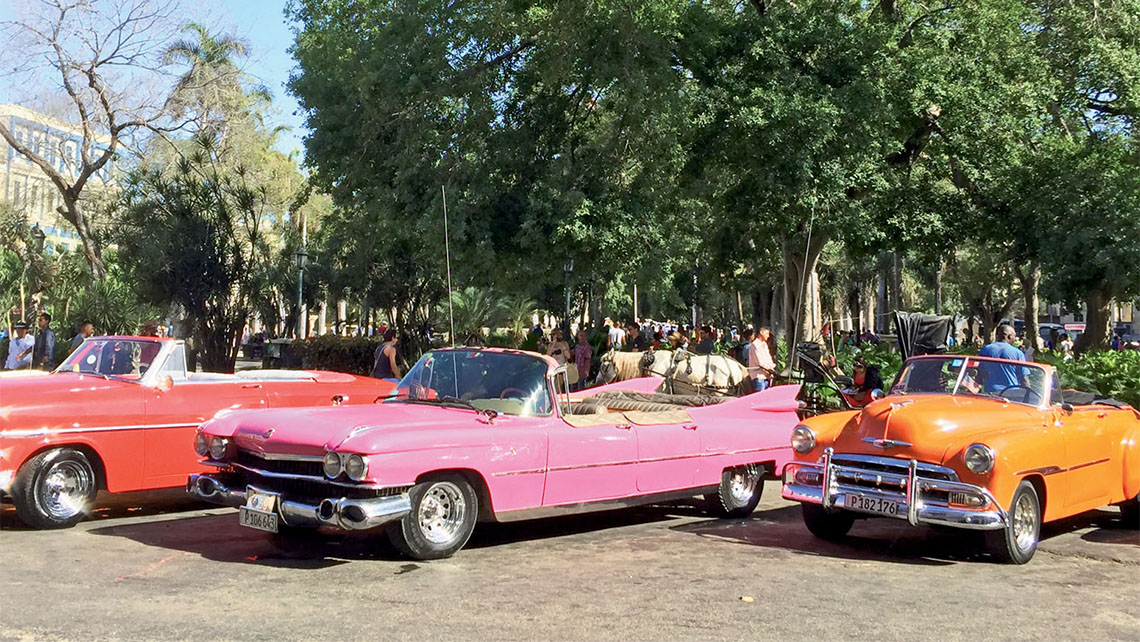 In Havana, some restored vintage cars have been transformed into taxis. Photo Credit: Felicity Long