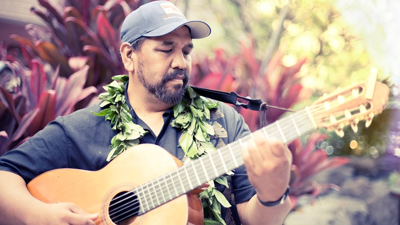 "Kawika Kahiapo, a 2010 Grammy Award winner for his contributions to ""Masters of Hawaiian Slack Key Guitar,"" is one of the performers at the festival this year."