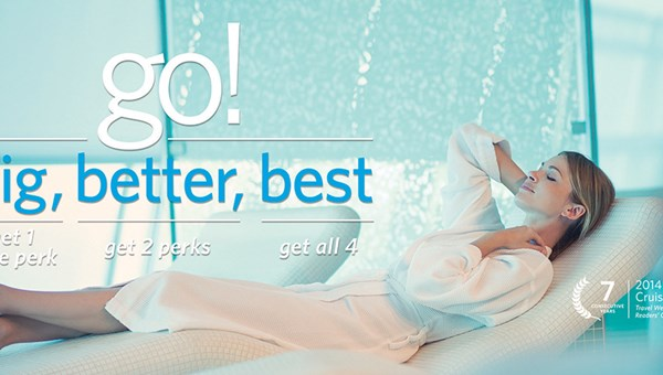 Celebrity Cruises' groundbreaking 123 Go promo evolved into Go Big, Go Better, Go Best last year.