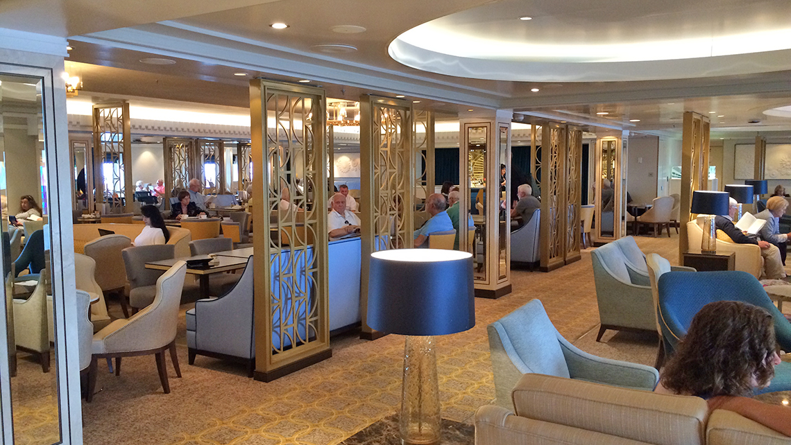 The new Carinthia Lounge is busy with passengers throughout the day. Photo Credit: Rebecca Tobin