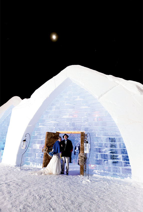 The Hotel de Glace is rebuilt every year, using 30,000 tons of snow and 500 tons of ice, during a six-week period for a January opening.