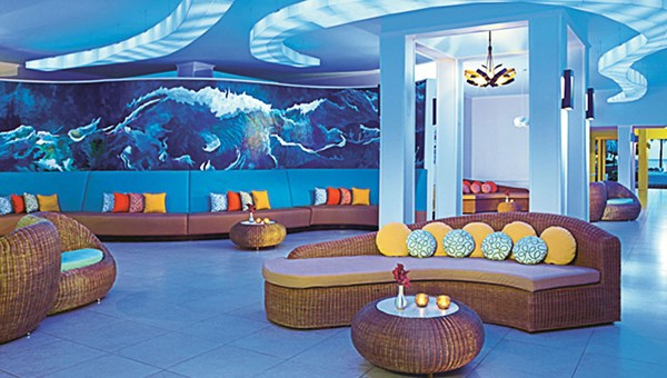 The lobby and reception area at the Sunscape Curacao Resort, Spa & Casino.